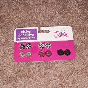 NWT Justice Earrings 5 pairs Free With Bundle